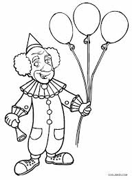 coloring clown balloons coloring pages ideas