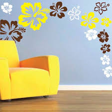 Hibiscus Flowers Wall Decal Trendy Wall Designs - Wall design decals