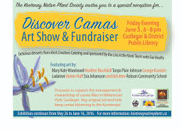 ca native plant society discover camas art show and fundraiser kootenay native plant society