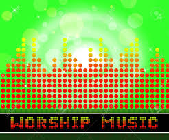 worship church songs graphic equalizer shows religious stock