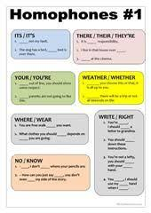 homophones worksheets homophones homonyms pinterest