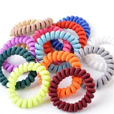 ponytail holders fabric telephone wire hair band wrapped cloth design ponytail