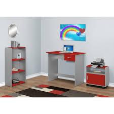 monarch specialties i 7105 3 piece computer desk set in red