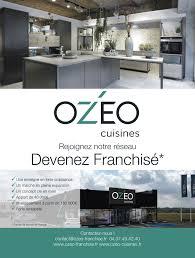 enseigne de cuisine ozéo cuisines dans la presse ozéo franchise