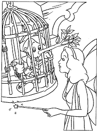 blue fairy pinocchio pinocchio coloring pages