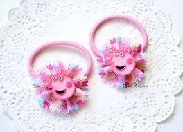 baby hair ties peppa pig baby hair clip hair ties pink bunny