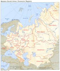 Russia Physical Map Physical Map by Western Economic Regions In The Former Soviet Union 1986 Full Size
