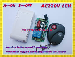 remote control on off light switch aliexpress com buy remote control switch ac220v 1ch 10a relay
