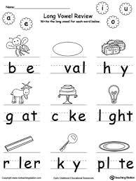 long vowel worksheets for kindergarten free worksheets library