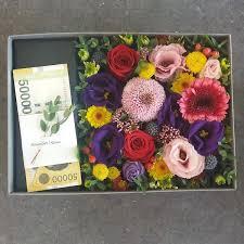 money flowers fgk s money flower box flower delivery south korea 320 5