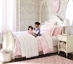 pottery barn madeline bed and gray color scheme white beds