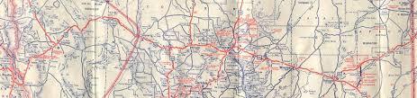map us highway route 66 historic u s highway 66 through arizona on vintage postcards