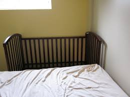 Crib That Attaches To Bed Confessions Of A Co Sleeper How To Sidecar Your Crib