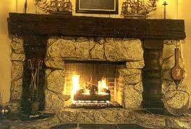 stone fire places doors for rock fireplaces