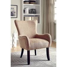 Beige Wingback Chair Casual Beige Living Room Accent Chair With Nailhead Trim Free