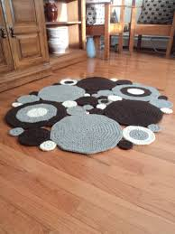 Circle Area Rug Crochet Circle Area Rug Colored Wool Via Etsy For The
