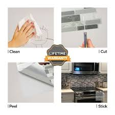 how to degrease backsplash tic tac tiles polito gray 10 in w x 10 in h multi color
