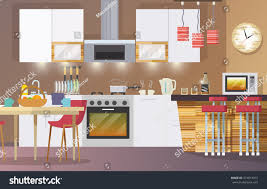 kitchen interior concept flat modern design stock vector 274813013 kitchen interior concept with flat modern design elements vector illustration