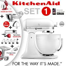 Kitchenaid Artisan Mixer by Kitchenaid Artisan Stand Mixer Set 1 Frosted Pearl Ka