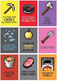 minecraft valentines minecraft cards minecraft s day cards