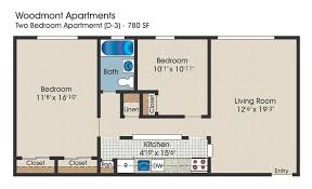 2 Bedroom Floor Plans by The Meadows Apartments In Ronkonkoma