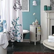 sea bathroom ideas coral bathroom decor coral and teal shower curtain beautiful sea
