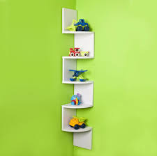 triangle corner wall shelf