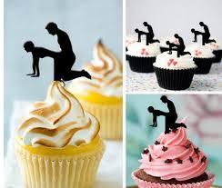 custom cupcake toppers custom personality silhouette cupcake toppers food picks