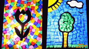stained glass kids crafts youtube