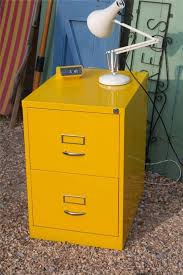 Retro Filing Cabinet Great Yellow Metal Filing Cabinet Vintage Cole Steel Metal File