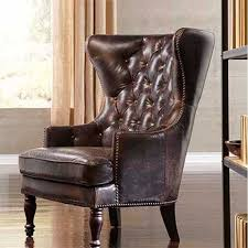 Leather Wingback Chair Leather Wingback Chair With Nailhead Trim Remington Wing Magnolia