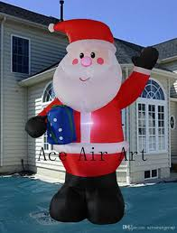 2017 decora christmas inflatable santa claus with candy cane