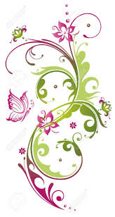flower and butterfly border clip art