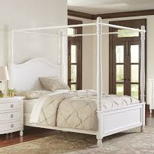 Bed Canopy Frame White Wood Canopy Bed Amys Office