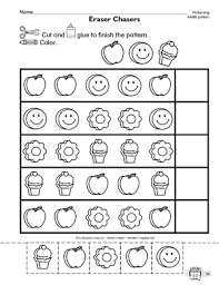 patterns in kindergarten free worksheets ab pattern worksheets preschool free math