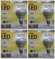 feit electric 65 watt br30 dimmable flood led light bulbs 4 pack