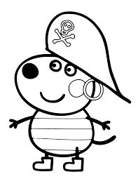 pirate peppa pig coloring pages the cliparts