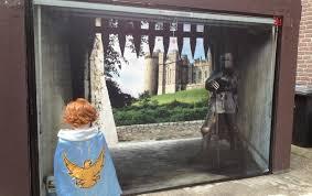 impress your neighbors with a 3 d fantasy garage door mural adweek