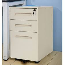 Three Drawer Vertical File Cabinet by Merax Metal Solid Mobile Storage 3 Drawer File Cabinet With Keys