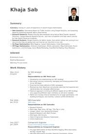 Hr Analyst Resume Sample by Seo Analyst Resume Samples Visualcv Resume Samples Database