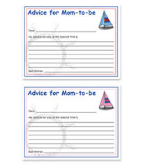 advice cards for the nautical theme free baby shower advice for card