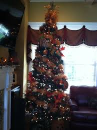 harvest blessings tree nine foot tree decorated in orange and