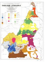 map of cameroon ethnic map of cameroon maps on the web