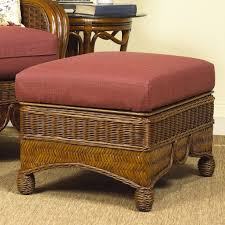 coffee table design rattan wicker ottoman half round dining with 4