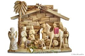 holy land gifts olive wood christmas nativity set carved from the holy land
