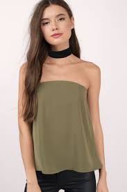 strapless blouse olive tank top strapless top green top olive blouse 25