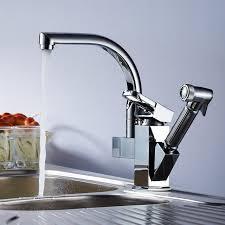 2 kitchen faucet chrome polished deck single handle ceramic 2 holes kitchen faucet