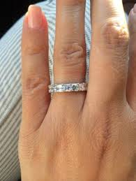 wedding bands boston two diamond eternity bands with an asscher eternity band in the