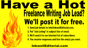 jobs for freelance writers and editors 71 freelance writing job leads for june 5 2017 inkwell editorial