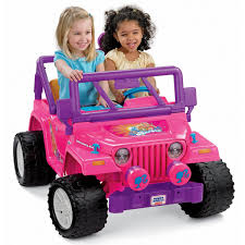 barbie toy cars power wheels barbie jammin jeep wrangler by fisher price on